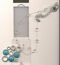 CHICO'S  TURQUOISE PENDANT WIRE NECKLACE