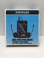 Vintage NOS Stewart RH452 Amfm Stereo Receiver W/ Headphones