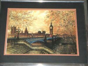 London Big Ben Parliament House & The Thames By Jordan 98 Framed Print