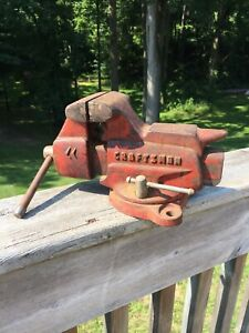 VINTAGE CRAFTSMAN 506-51800 SWIVEL BENCH VISE W/ANVIL & PIPE JAWS * Made In USA