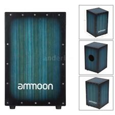 ammoon Wooden Box Drum Cajon with Stings Rubber Feet Instrument P1P8