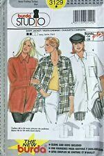 Burda  Misses' Shirt Jacket Pattern 3129 Size 10-28 UNCUT