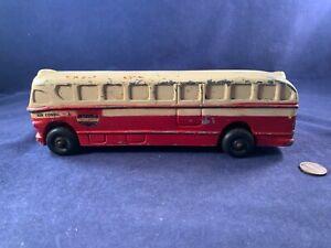 Antique Vintage Metal Mechanical Bank - National Trailways Bus