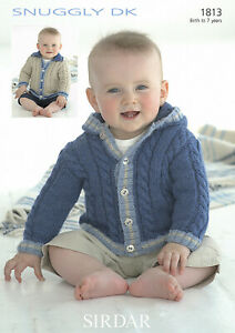 Sirdar Jacket Knitting Pattern - 1813 - Snuggly DK Double Knit