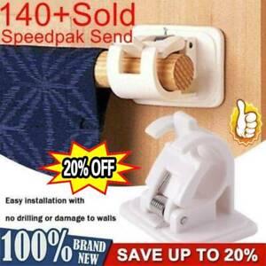 2Pcs Nail-free Adjustable Rod Bracket Holder Magic Wall Hanging Rod Curtain Rail