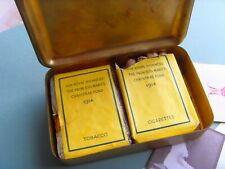 WW1 GREAT WAR 1914 CHRISTMAS TIN & CONTENTS RAWLINGSON's 4th CORPS 1st YPRES BAT