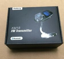 Nulaxy Km18 Wireless In-car Bluetooth Fm Transmitter Radio Adapter Car Kit Black