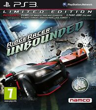 * PLAYSTATION 3 NEW SEALED Game * RIDGE RACER UNBOUNDED Limited Edition * PS3