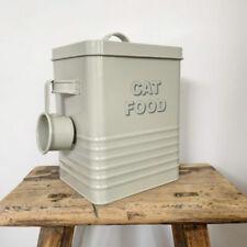 Cat Biscuit Food Metal Storage Tin with Scoop Height 25cm Pet Gifts Presents