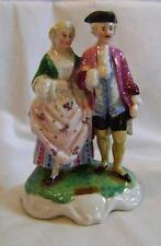 C19th Porcelain Fairing: figure of Man & Woman, Continental C.1880s. a/f