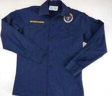 Bsa Cub Boy Scouts Of America Official Youth M Uniform Shirt Blue Long Sleeve