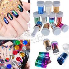 12 Farben Nagelfolie Zauberfolie Nägel Sticker Tips Nail Transferfolie Nail Art