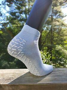 Anti-Slip Slipper Socks, 6 Pair, Gripper Bottom Indoor House Non-Skid Hospital
