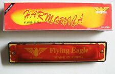 RED HARMONICA PK/6 PARTY FAVOUR 16 REED FLYING EAGLE MOUTH ORGAN
