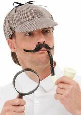 Sherlock Holmes Costume Detective Kit Adulti Detectives Tubo Cappello + Vetro
