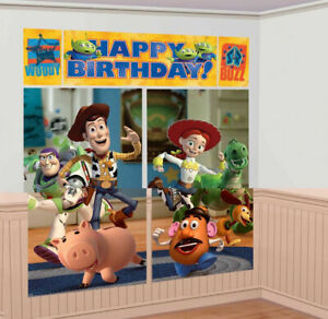 Disney Toy Story Party Supplies Scene Setter (5 pieces)