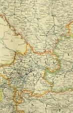 1895 Antik Landkarte Austro Hungarian Monarchy Western Blatt Wien Dalmatien