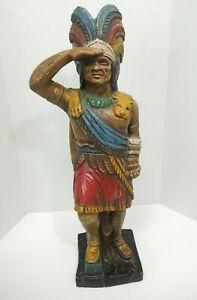 "CIGAR STORE INDIAN ~ Vintage Alfco NY Foam Resin ~ 25.5"" ~ Wooden Statue Replica"