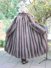XXL XXXL Real RACCOON Vintage Fur Coat Jacket Women Ladies RR4262