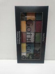 Technic Gothica Pressed Pigments Eyeshadow Eye Palette, Matte, Shimmer, Gothic