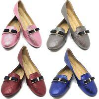 Women's Sparkle-Studded Ballet Ballerina Flats, Slip-on Loafers Flats w/ Buckle
