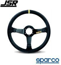 Sparco R 345 Steering Wheel 3-Spoke Black Suede PN: 015R345MSN