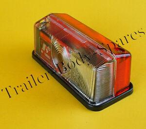 Radex 925 Red & White Outline Marker Lamp Light for Horsebox Trailers Caravan