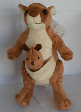 "NIC NAC 11"" Plush Stuffed Animal Australian Woodland Forest Baby KANGAROO w JOEY"