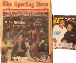 Isiah Thomas Magazine Lot The Sporting News 1982 + JET 1991 Detroit Pistons