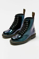 DR. MARTENS 1460 TEAL SPARKLE LEATHER BOOTS 25562308
