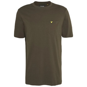 Lyle & Scott Mens Relaxed Pocket Crew Neck T-Shirt Olive Green