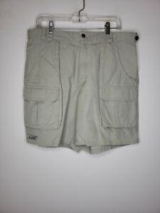 Columbia Men's Cargo Shorts 36 Khaki Pockets Outdoor Fishing Hunting Boating