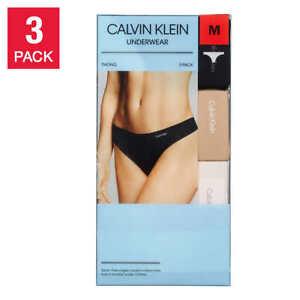 Calvin Klein Women's Invisibles Line Thong-panties Underwear 3Pack