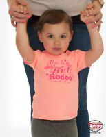 Cowgirl Tuff Infant Girl's Coral My First Rodeo Graphic Tee S01100