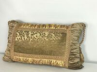 """Stratford Home 22"""" x 14"""" Decorative Floral and Fringe Pillow"""