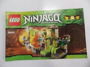 Instructions LEGO ninjago Master Of Spinjitzu Manuals Mounting Ref 9440