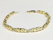 10k Solid Yellow Gold Nugget Chain/Bracelet 4.5 MM 14 grams 7""