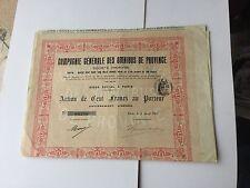 Compagnie Des Omnibus De PROVINCE ,100 Francs Au Porteur