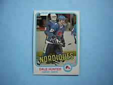 1981/82 O-PEE-CHEE NHL HOCKEY CARD #277 DALE HUNTER ROOKIE NM SHARP!! 81/82 OPC