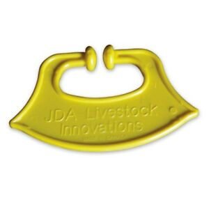 Calf Weaner Plastic Yellow Color Size 85 mm x 75 mm