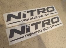 Unbranded Nitro Boat Decals In Boat Parts EBay - Nitro bass boat decals