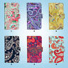 Paisley Pattern Flip Wallet Cover Samsung Galaxy S3 4 5 6 7 8 Edge Note Plus 081