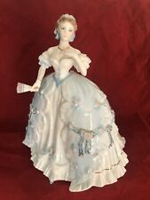 "royal worcester Large figurine From Romance Of Victorian Era ""FIRST QUADRILLE """