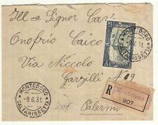 ZZ0645 - SINGOLO ISOLATO MILIZIA SU RACCOMANDATA 09-06-31