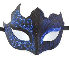 Navy Blue Black Unique Venetian Mask Masquerade Mardi Gras