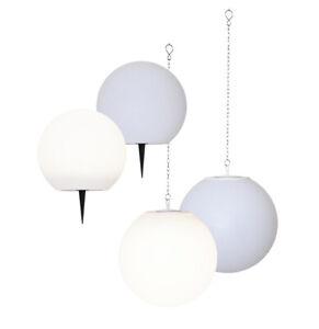 LED Solar Kugel zum Aufhängen 30 cm oder mit Erdspieß 25 cm Kugellampe Outdoor
