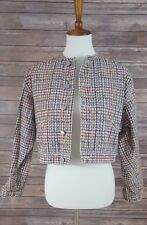 80's Vintage Esprit Multicolor Hounds tooth Cropped Button down Jacket Women's