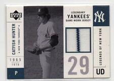 Catfish Hunter G/U Jersey Card with Pinstripe N.Y. Yankees Upper Deck 2001 Nm-Mt