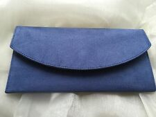 BLUE ENVELOPE CLUTCH BAG FAUX SUEDE HAND CRAFTED