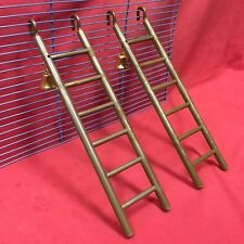 "2 x Plastic Toy Ladders & Bell 11"" Brown Hamsters Mice Rats Gerbil Dwarf Hamster"